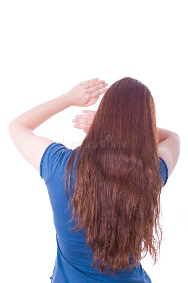 aggression herself protecting woman στοκ εικόνα με δικαίωμα ελεύθερης χρήσης
