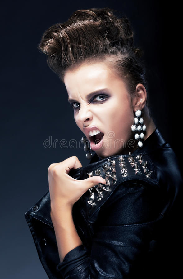 Download Aggression - Rude Negative Angry Female Stock Photo - Image of hairstyle, background: 26541568