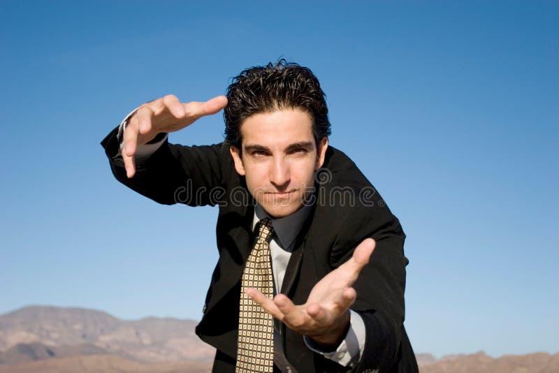 aggressiv affärsman fotografering för bildbyråer