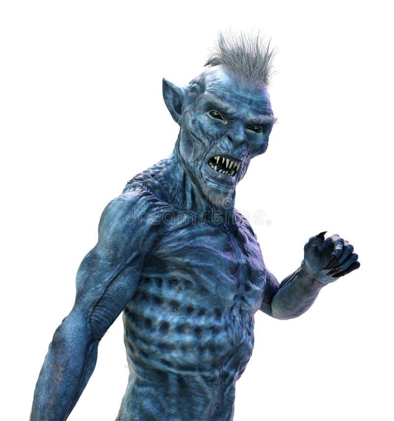 Aggressive Alien Creature vector illustration