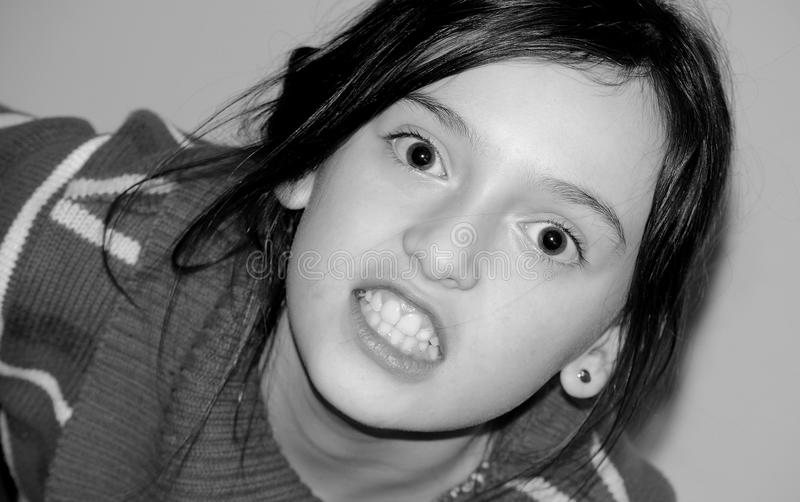Aggressive child stock images