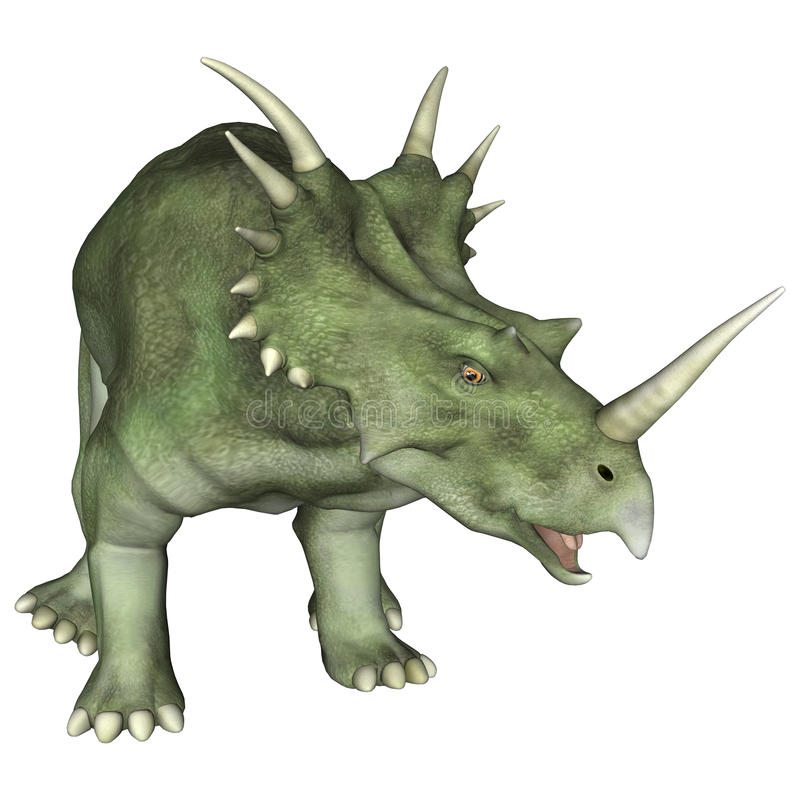 Aggressive Dinosaur Styracosaurus royalty free illustration