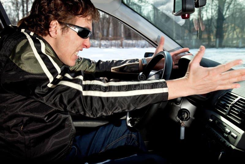 Aggressive driver royalty free stock photo