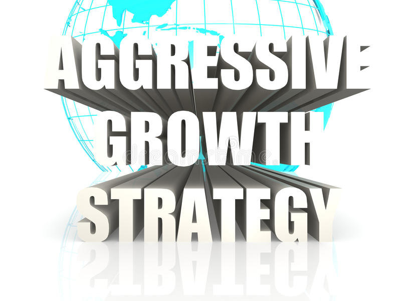 Aggressive Growth Strategy stock illustration