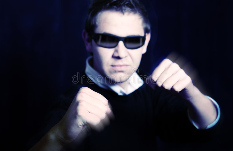 Aggressive man stock photography