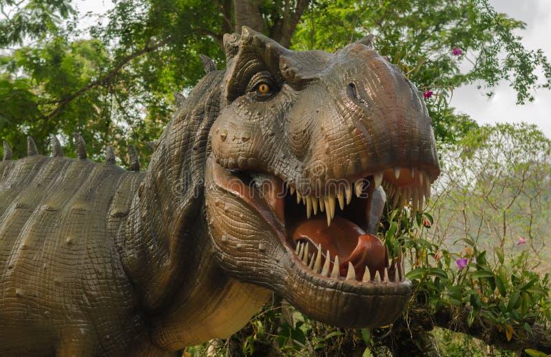 Aggressive T Rex. stock photo