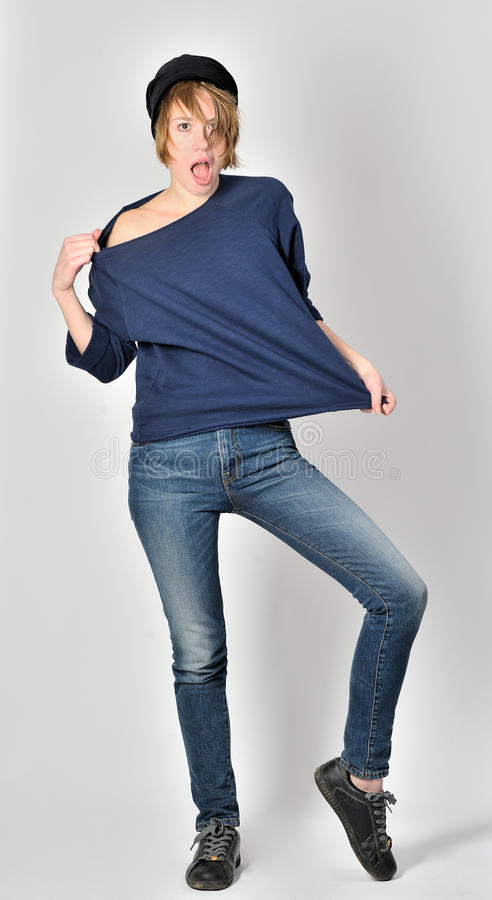 Download Aggressive teen girl stock image. Image of blue, rock - 28378927