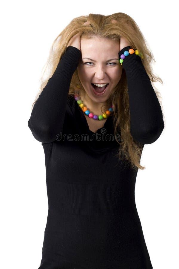 Aggressive woman royalty free stock image