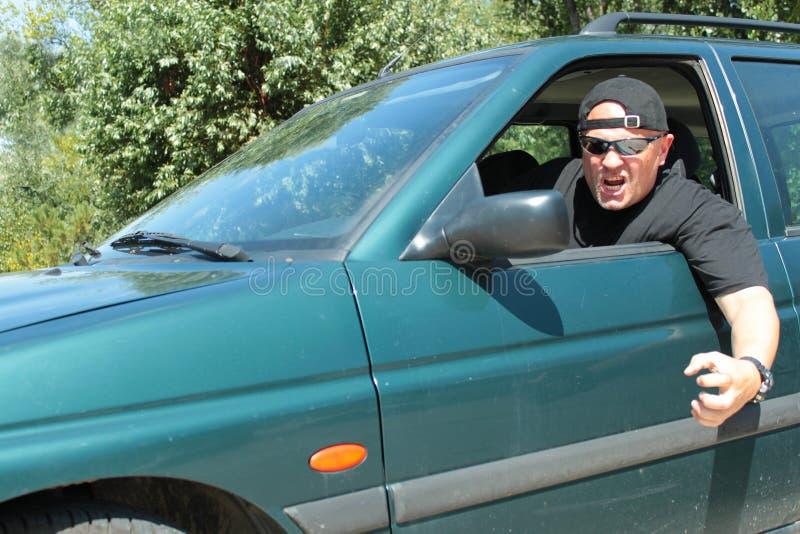 Aggressiver Fahrer lizenzfreie stockfotografie