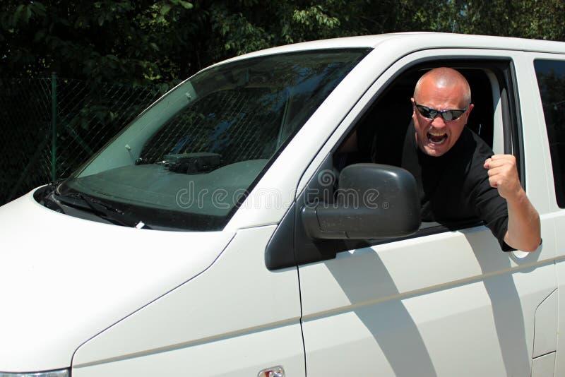 Aggressiver Fahrer stockbilder