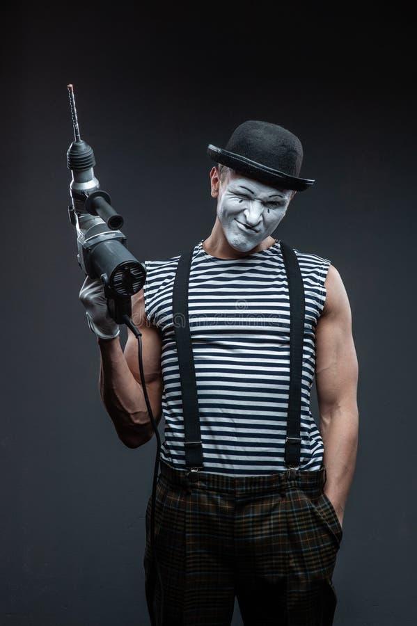 Aggressiver Pantomimeholding Puncher stockbild