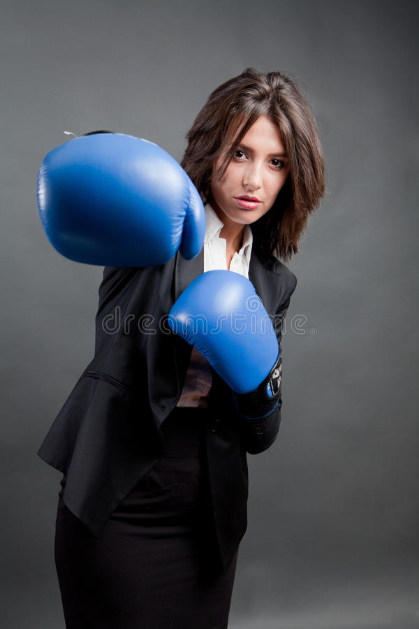 Aggressivity in business royalty free stock image