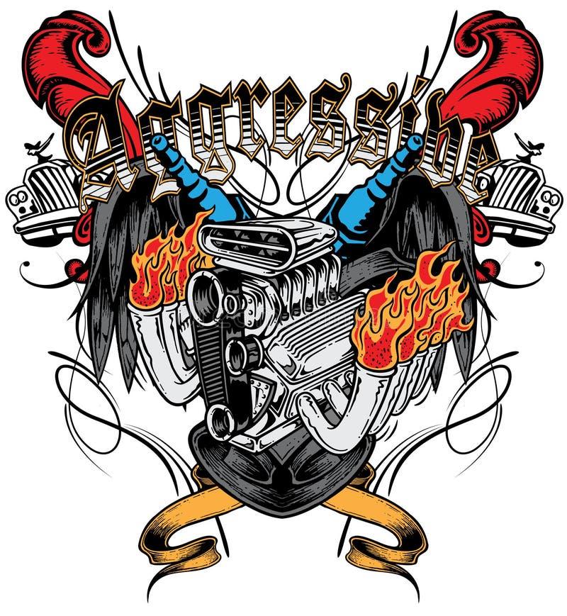 Aggressivt royaltyfri illustrationer