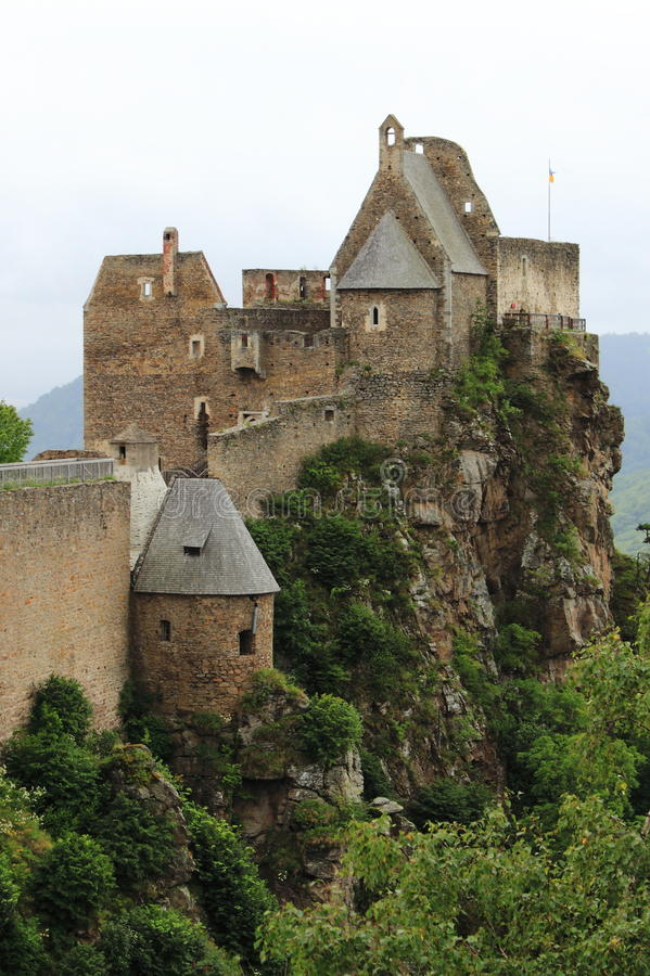 Aggstein Castle royalty free stock photos