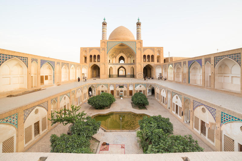 Agha Bozorg Mosque in Kashan, Iran royalty free stock photos