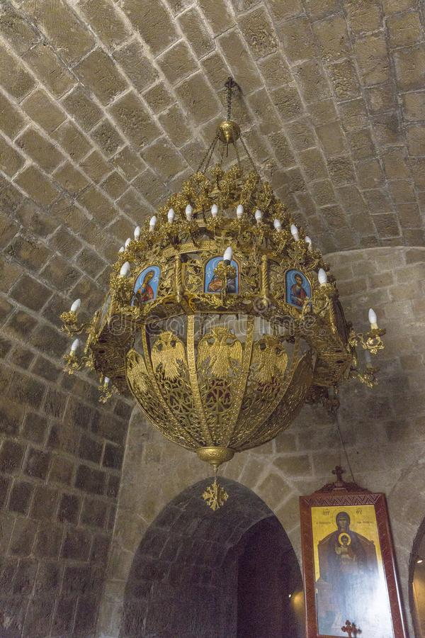 Agia纳帕修道院 库存图片