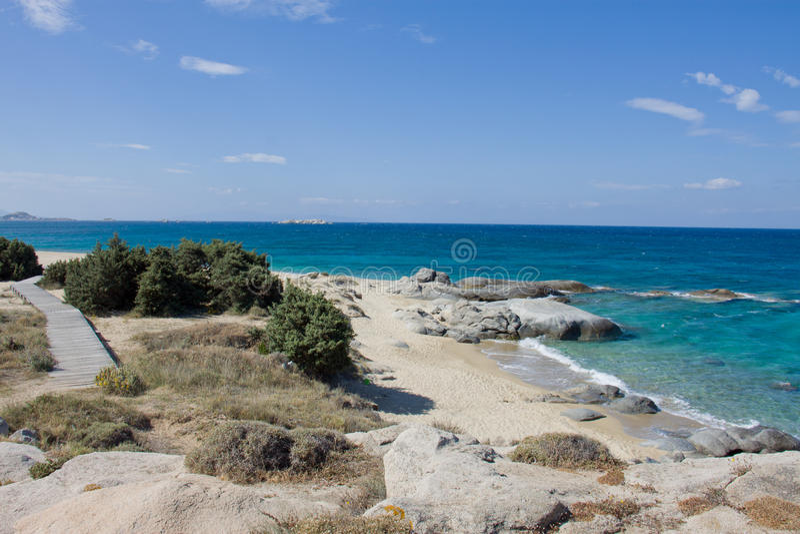 Agia Anna Beach images libres de droits