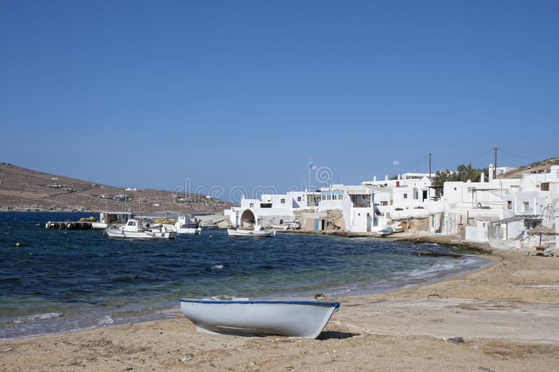 Agia Anna in Mykonos royalty-vrije stock afbeelding
