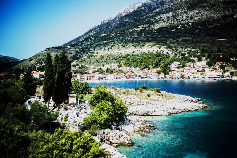 Agia Effimia, Kefalonia ö, Grekland arkivbilder