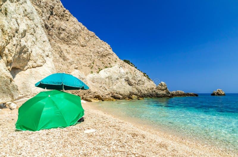 Agia Eleni plaża w Kefalonia wyspie, Grecja fotografia royalty free