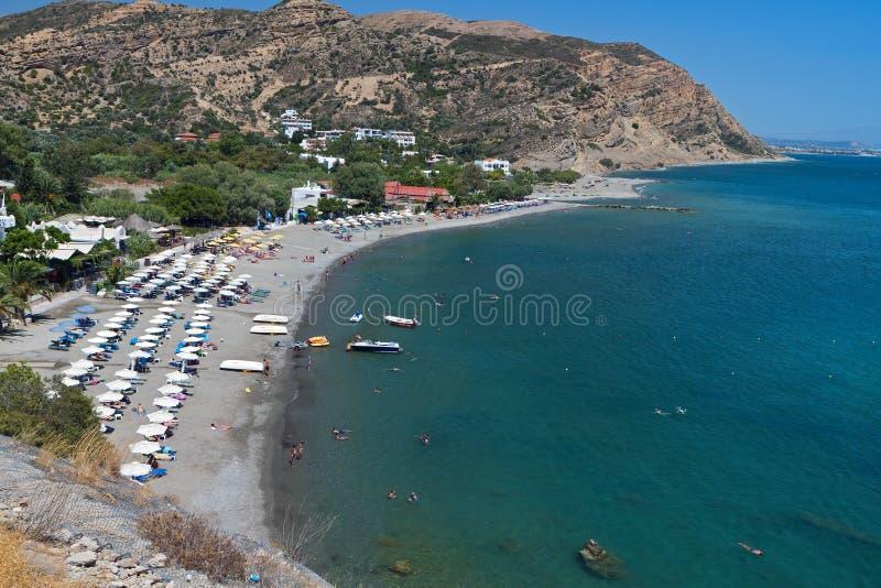 Agia Galini beach at Crete island stock image