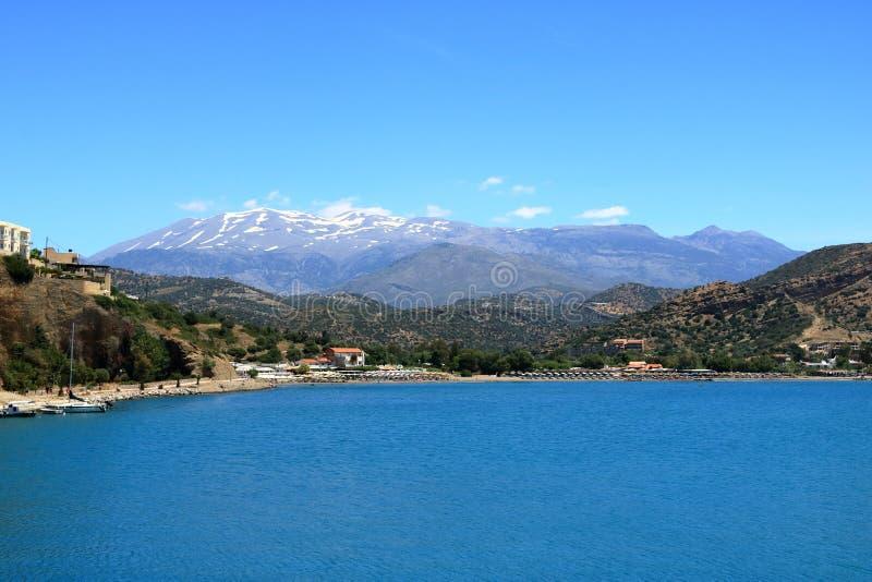 Agia Galini Beach in Crete island, Greece stock photo