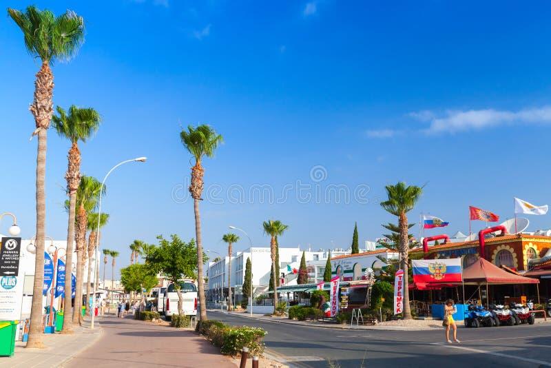 Agia Napa, costa sud dell'isola del Cipro fotografia stock libera da diritti