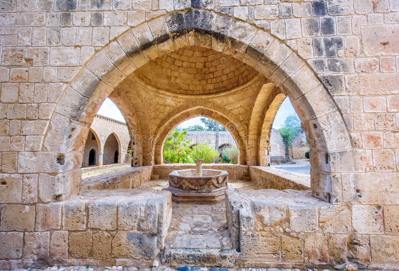 Agia Napa monasteru fontanna w Cypr 2 fotografia royalty free