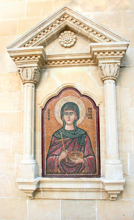 Agia Paraskevi Icon On Old Cyprus Church Stock Images