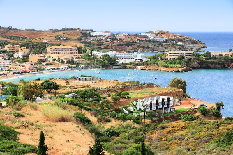 Agia Pelagia, Крит стоковое изображение rf