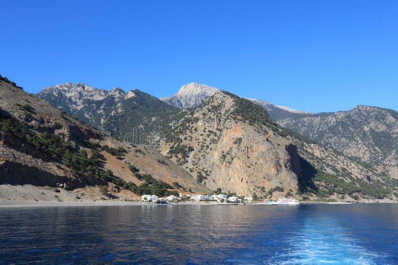 Agia Roumeli, Creta fotos de archivo libres de regalías