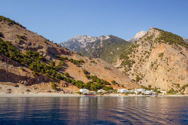 Agia Roumeli, Creta fotos de archivo