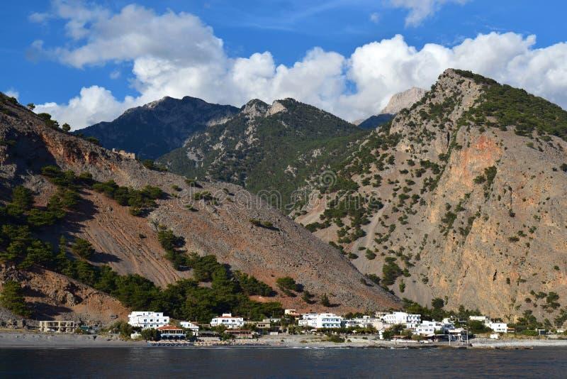 Agia Roumeli, Creta fotografía de archivo