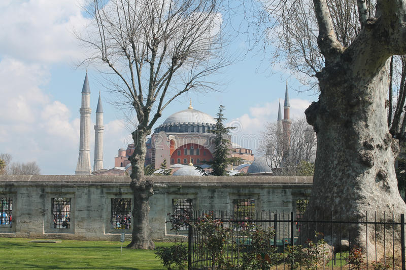 Agia Sophia. Hagia Sophia, which remained the largest Christian church in the world has been rebuilt into a mosque by the Turks for a thousand years. Since 1935 stock photography
