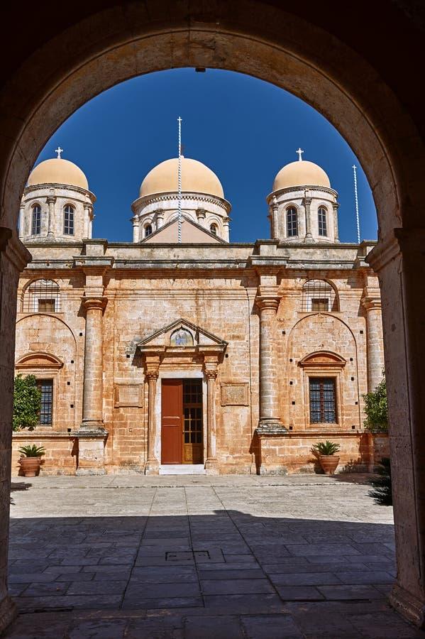 Agia Triada - klooster op het Eiland Kreta royalty-vrije stock foto's