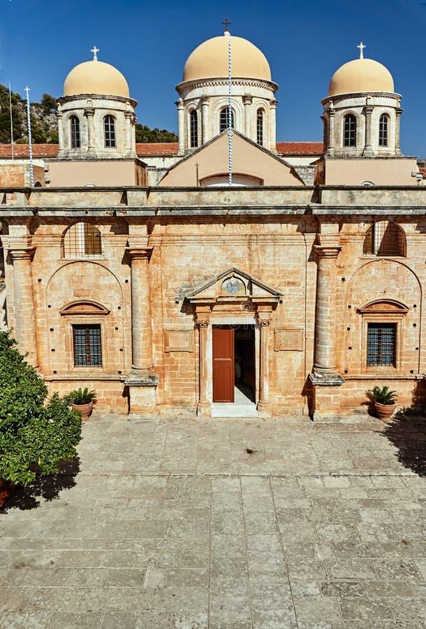 Agia Triada - monastère sur l'île de Crète photos libres de droits