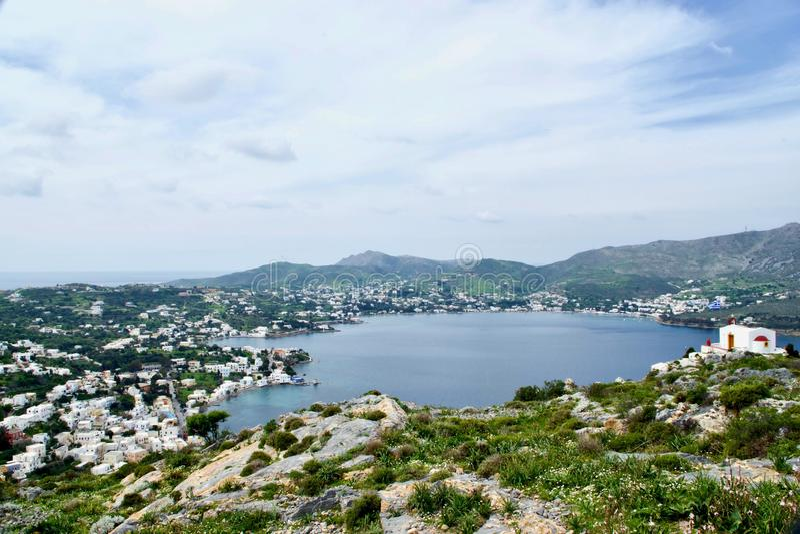 Agiajachthaven en Alinda, Leros, Dodecanese, Griekenland, Europa royalty-vrije stock foto