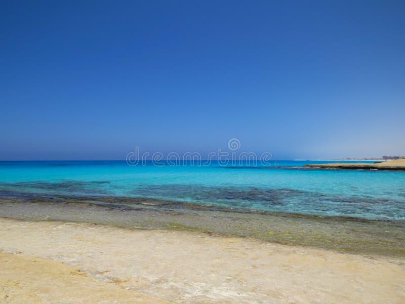 Agiba海滩在Marsa马特鲁 库存图片