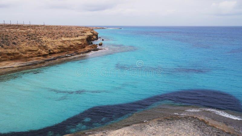 Agiba海滩 免版税图库摄影