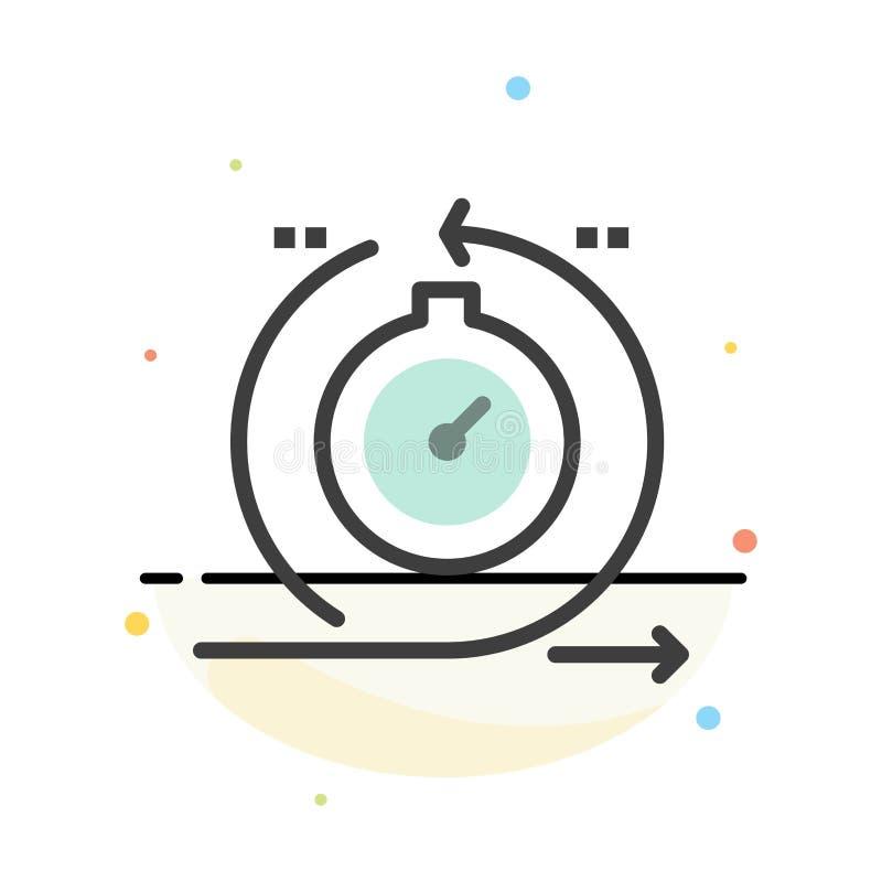Agile, cycle, développement, rapide, calibre plat d'icône de couleur d'abrégé sur itération illustration de vecteur
