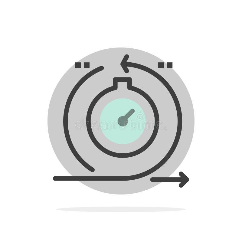 Agile, cycle, développement, rapide, icône plate de couleur de fond abstrait de cercle d'itération illustration stock