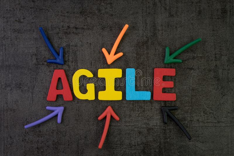 Agile development, new methodology for software, idea, workflow royalty free stock photos