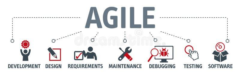 Agile development vector illustration concept banner vector illustration