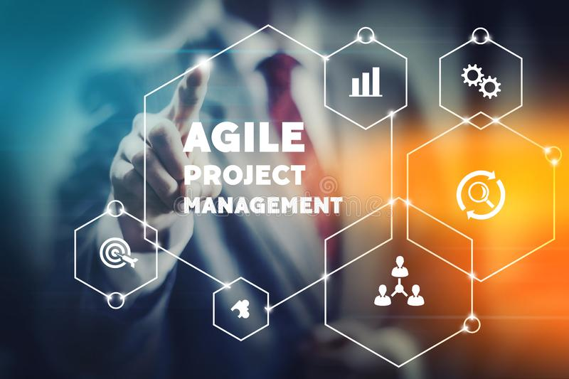 Agile project management concept stock photos