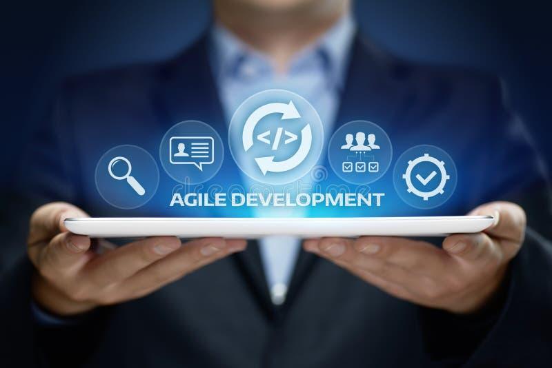 Agile software development business internet techology concept stock image