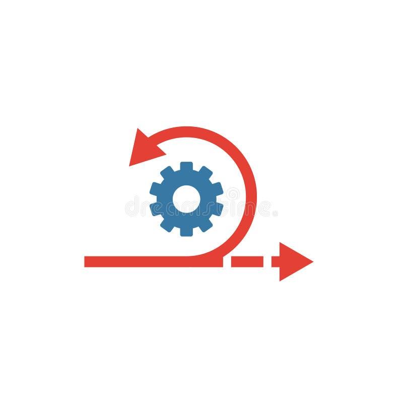Agile-Symbol Einfaches Flachelement aus der Inhaltssammlung Creative agile Icons für Vorlagen, Software und Apps lizenzfreie abbildung