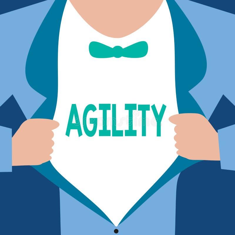 Agilité des textes d'écriture de Word Le concept d'affaires pour que la capacité se déplace pensent comprennent rapidement et fac illustration stock