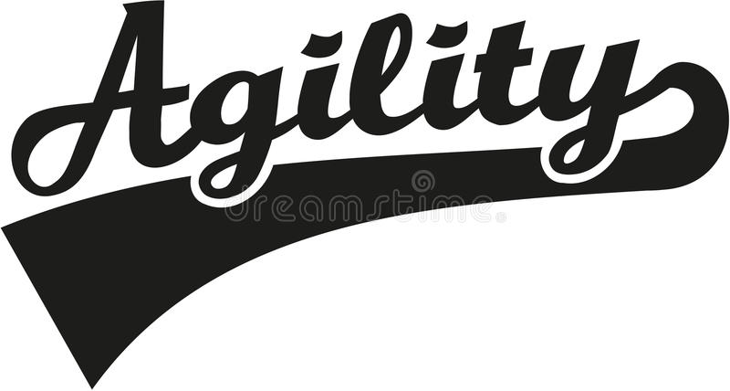 Agilité Word illustration de vecteur