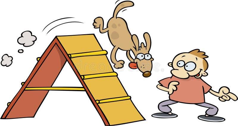 Agility dog stock illustration