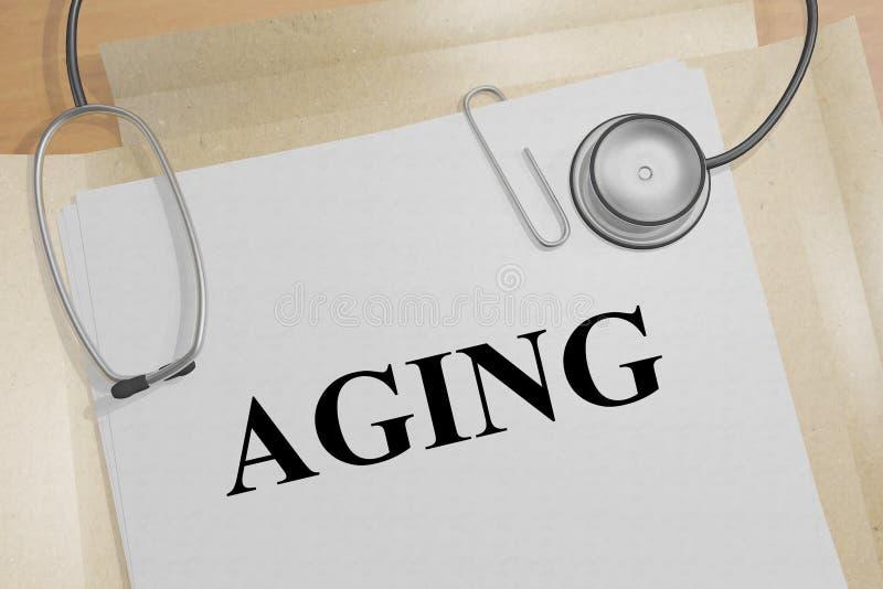 AGING - медицинская концепция стоковые изображения